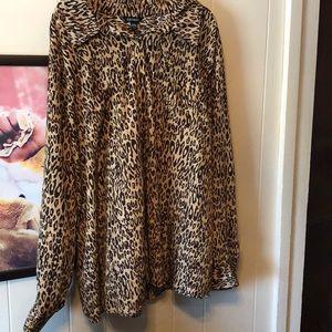 Cheetah Print Blouse